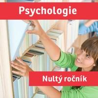 """PSYCHOLOGIE (""""nultý ročník"""") přípravný kurz - 2019/20"""