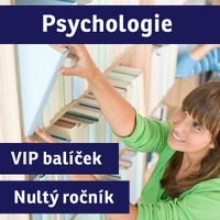"""VIP BALÍČEK PSYCHOLOGIE (""""nultý ročník"""") přípravný kurz - 2017/18"""